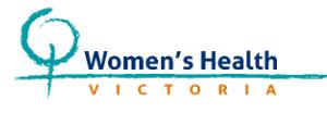 Women's Health Vic Logo