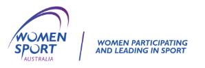 Women Sport Australia Logo